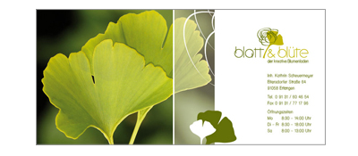 Corporate Design Blatt & Blüte