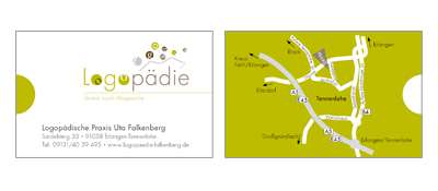 Corporate Design Logopädie Falkenberg